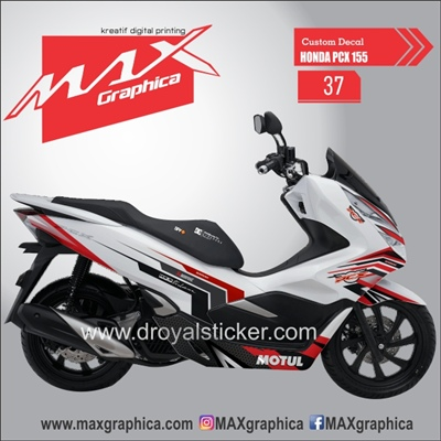 sticker decal PCX maxgraphica cutting sticker sidoarjo